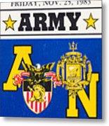 Army Navy Game 1983 Metal Print