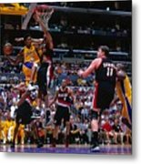 Arvydas Sabonis, Kobe Bryant, and Rasheed Wallace Metal Print