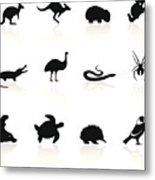 Australian animal icons Metal Print