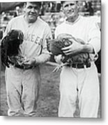 Babe Ruth and Walter Johnson Metal Print