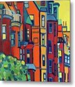 Beacon Street Back Bay Boston Metal Print