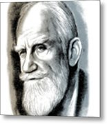 Bernard Shaw - Mixed Media Metal Print