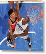 Bismack Biyombo and Kelly Oubre Metal Print