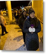 Black Friday Shoppers Look For Holiday Bargains Metal Print