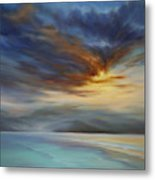 Blue Mist on the North Shore Metal Print