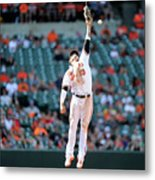 Boog Powell And Manny Machado Metal Print