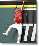 Brandon Belt and Mike Trout Metal Print