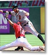 Brandon Belt and Rougned Odor Metal Print