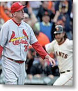Brandon Crawford and Randy Choate Metal Print