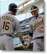 Brandon Moss and Josh Reddick Metal Print