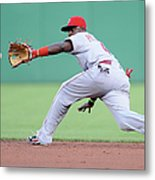 Brandon Phillips and Ike Davis Metal Print