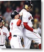 Brock Holt and Mookie Betts Metal Print