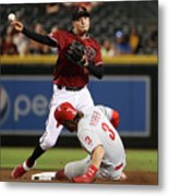 Bryce Harper and Wilmer Flores Metal Print