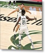 Bryn Forbes and Jrue Holiday Metal Print