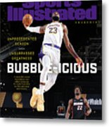Bubble-icious Los Angeles Lakers NBA Championship Sports Illustrated Cover Metal Print