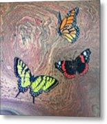 California Butterflies Metal Print