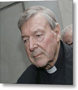 Cardinal George Pell Attends Court To Face Historical Child Abuse Charges Metal Print