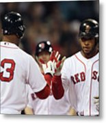 Carl Crawford and Darnell Mcdonald Metal Print