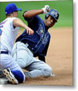 Carl Crawford and David Wright Metal Print