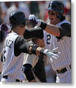 Carlos Gonzalez and Troy Tulowitzki Metal Print