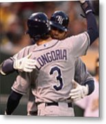Carlos Pena and Evan Longoria Metal Print