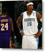Carmelo Anthony, Allen Iverson, and Kobe Bryant Metal Print