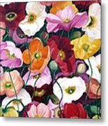 Cascade Of Poppies Metal Print