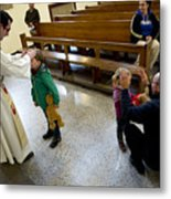Catholic Church Hosts Mass For House Pets Metal Print