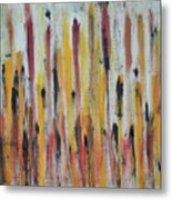 Cattails at Sunset Metal Print