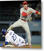 Chase Utley and Matt Kemp Metal Print