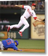 Chase Utley And Starlin Castro Metal Print