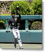 Chase Utley and Starling Marte Metal Print