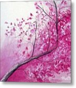 Cherry Tree In Bloom Metal Print