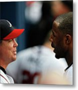 Chipper Jones and Jason Heyward Metal Print