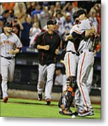 Chris Heston and Buster Posey Metal Print