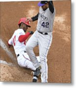 Chris Iannetta and Michael Taylor Metal Print