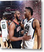 Chris Paul and Donovan Mitchell Metal Print