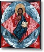 Christ Enthroned Metal Print