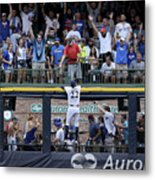 Christian Yelich and Anthony Rizzo Metal Print