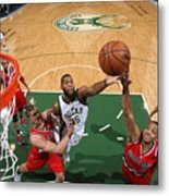 C.j. Mccollum and Greg Monroe Metal Print