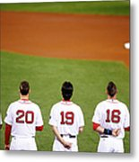 Clay Buchholz, Will Middlebrooks, and Koji Uehara Metal Print