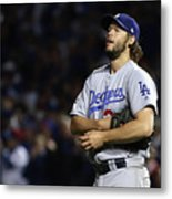 Clayton Kershaw and Anthony Rizzo Metal Print