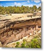 Cliff Palace in Mesa Verde, Ancient Pueblo Cliff Dwelling, Colorado Metal Print