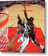 Clint Capela and Donovan Mitchell Metal Print