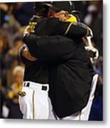 Clint Hurdle and Starling Marte Metal Print