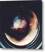 Close-Up Of Camera Lens Metal Print