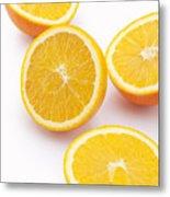Close-up of sliced oranges Metal Print