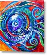 Colorful Comeback Fish Metal Print