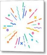 Colorful Modern Explosion Metal Print