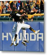 Corey Dickerson and Starling Marte Metal Print